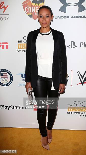 Recording artist Mel B attends the 2015 Sports Humanitarian of the Year Awards at the Conga Room at LA Live on July 14 2015 in Los Angeles California