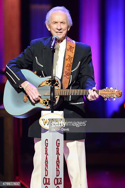 Recording artist Mel Tillis performs at The Grand Ole Opry on June 12 2015 in Nashville Tennessee