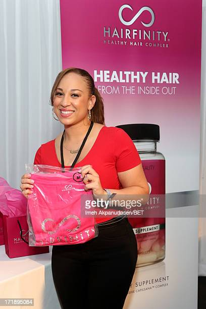 Recording artist Melanie Amaro attends day 1 of Backstage Creations Celebrity Gifting Suite during the 2013 BET Awards at LA LIVE on June 29 2013 in...