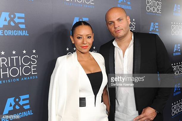 Recording artist Melanie Brown and producer Stephen Belafonte attend the 5th Annual Critics' Choice Television Awards at The Beverly Hilton Hotel on...