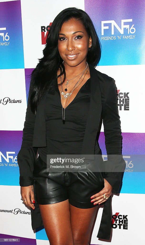 Recording artist Melanie Fiona attends the 16th Annual 'Friends 'N' Family' Pre-GRAMMY Event at Paramount Studios on February 8, 2013 in Hollywood, California.