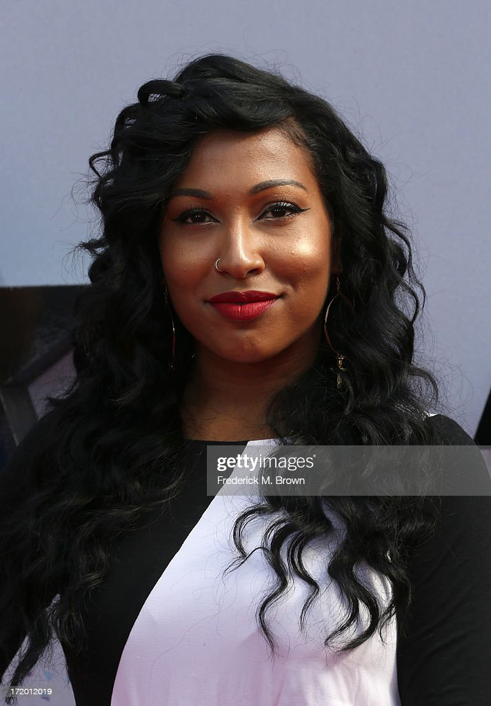 Recording artist <a gi-track='captionPersonalityLinkClicked' href=/galleries/search?phrase=Melanie+Fiona&family=editorial&specificpeople=5543211 ng-click='$event.stopPropagation()'>Melanie Fiona</a> attends the 2013 BET Awards at Nokia Theatre L.A. Live on June 30, 2013 in Los Angeles, California.