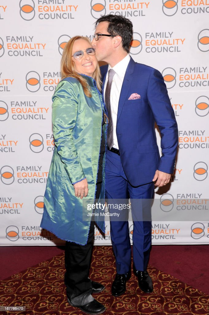 Recording artist Melissa Etheridge (L) and actor Dan Bucatinsky attend the Family Equality Council's Night at the Pier at Pier 60 on April 29, 2013 in New York City.