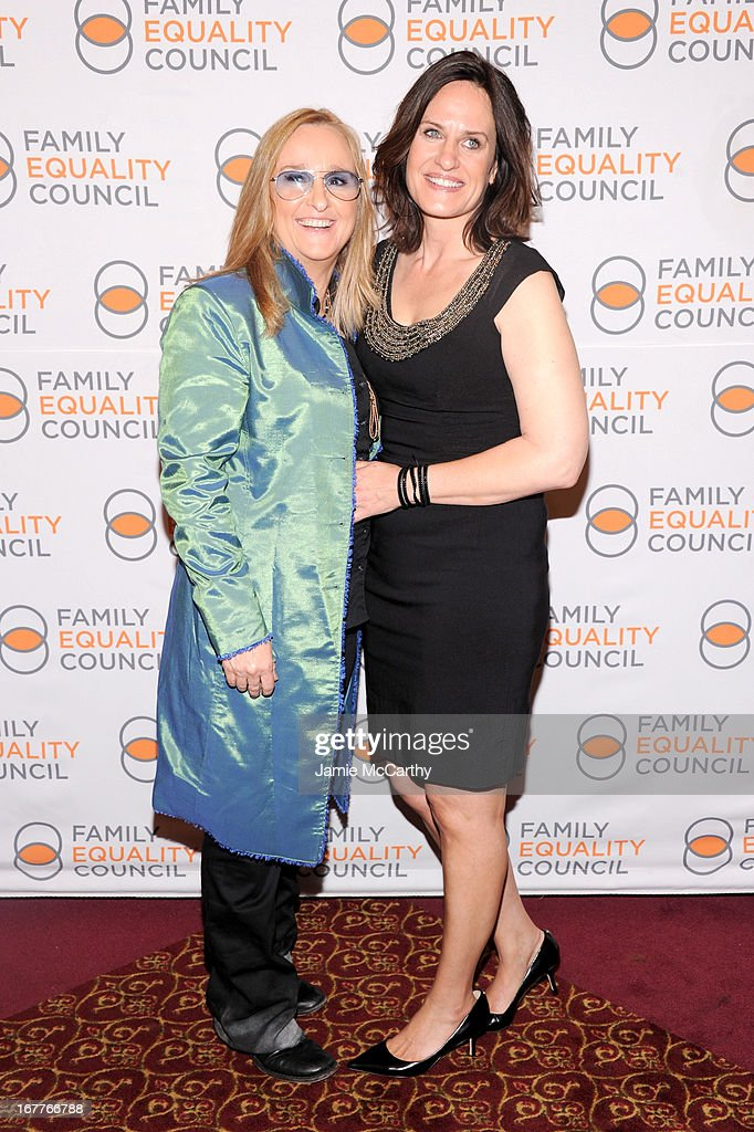 Recording artist Melissa Etheridge (L) and Linda Wallem attend the Family Equality Council's Night at the Pier at Pier 60 on April 29, 2013 in New York City.