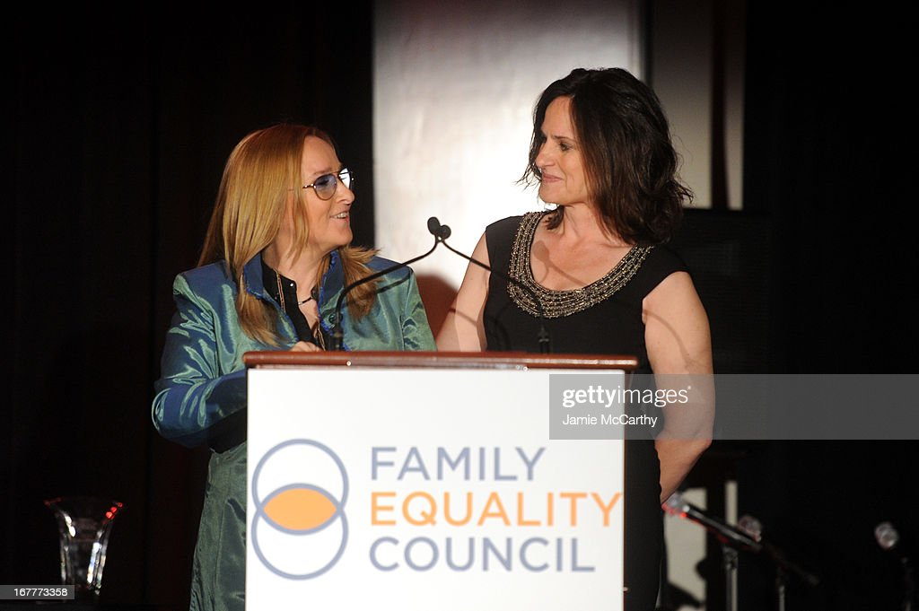 Recording artist Melissa Etheridge and Linda Wallem speak at the Family Equality Council's Night at the Pier at Pier 60 on April 29, 2013 in New York City.