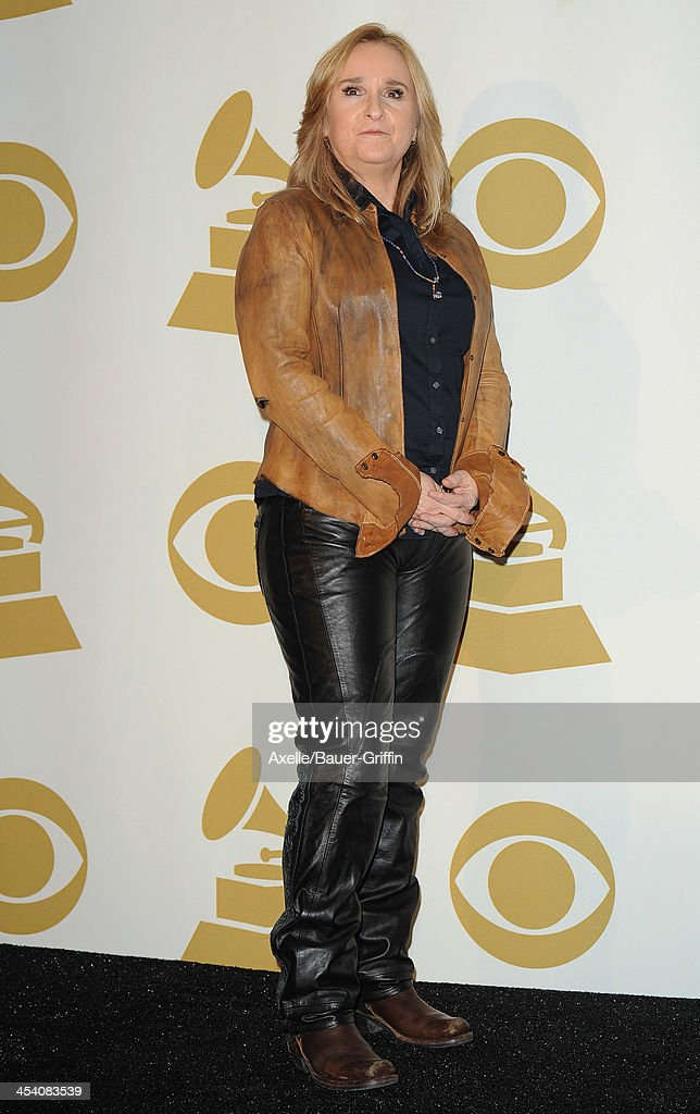 Recording artist <a gi-track='captionPersonalityLinkClicked' href=/galleries/search?phrase=Melissa+Etheridge&family=editorial&specificpeople=206313 ng-click='$event.stopPropagation()'>Melissa Etheridge</a> poses in the press room at The GRAMMY Nominations Concert Live! Countdown To Music's Biggest Night at Nokia Theatre L.A. Live on December 6, 2013 in Los Angeles, California.
