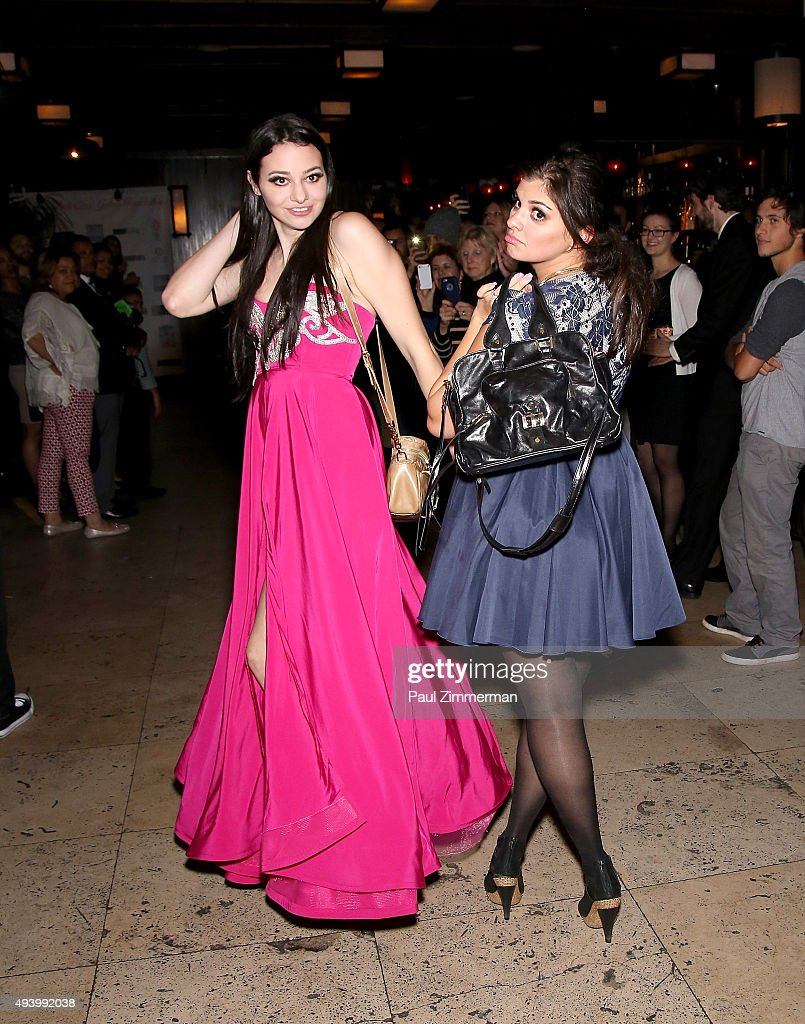 Recording artist Meredith O'Connor (L) and designer Crystal Kodada walk the runway at the Meredith O'Connor Album Release Party benefiting The Carol Galvin Foundation at The Park on October 23, 2015 in New York City.