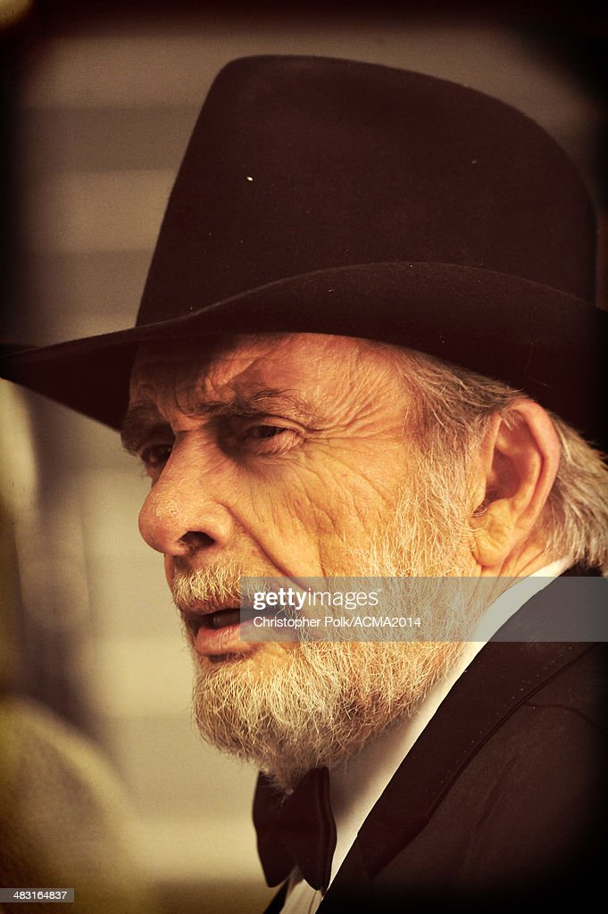 Recording artist <a gi-track='captionPersonalityLinkClicked' href=/galleries/search?phrase=Merle+Haggard&family=editorial&specificpeople=603099 ng-click='$event.stopPropagation()'>Merle Haggard</a> attends the 49th Annual Academy of Country Music Awards at the MGM Grand Garden Arena on April 6, 2014 in Las Vegas, Nevada.