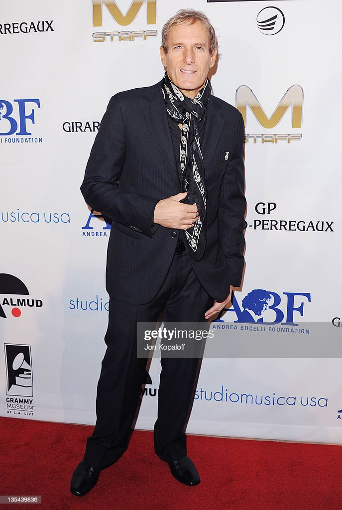 Recording Artist Michael Bolton arrives at the Andrea Bocelli Foundation's 2011 Benefit Gala at The Beverly Hilton hotel on December 9 2011 in...