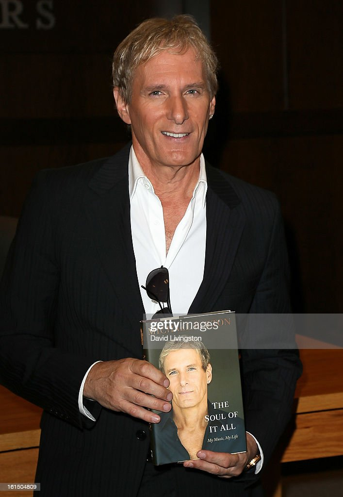 Recording artist Michael Bolton attends a signing for his book 'The Soul of It All: My Music, My Life' at Barnes & Noble bookstore at The Grove on February 11, 2013 in Los Angeles, California.