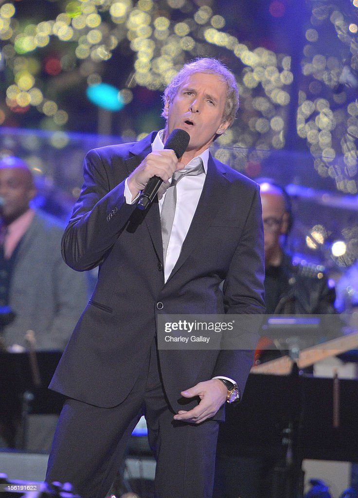 Recording artist Michael Bolton performs at The Grove's 10th Annual Star Studded Holiday Tree Lighting Spectacular Presented By Citi at The Grove on November 11, 2012 in Los Angeles, California.