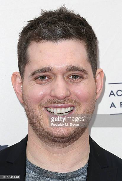 Recording artist Michael Buble attends the Academy of Television Arts Sciences' Presents an Evening with Michael Buble at the Wadsworth Theater on...