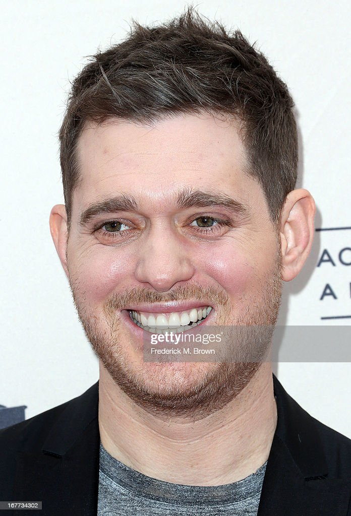 Recording artist <a gi-track='captionPersonalityLinkClicked' href=/galleries/search?phrase=Michael+Buble&family=editorial&specificpeople=215140 ng-click='$event.stopPropagation()'>Michael Buble</a> attends the Academy of Television Arts & Sciences' Presents an Evening with <a gi-track='captionPersonalityLinkClicked' href=/galleries/search?phrase=Michael+Buble&family=editorial&specificpeople=215140 ng-click='$event.stopPropagation()'>Michael Buble</a> at the Wadsworth Theater on April 28, 2013 in Los Angeles, California.