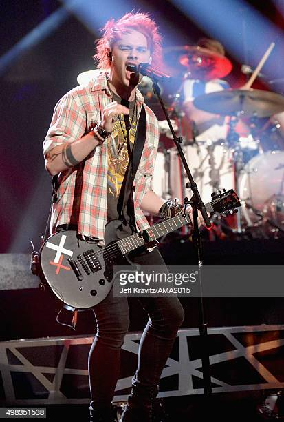 Recording artist Michael Clifford or 5 Seconds of Summer performs onstage during the 2015 American Music Awards at Microsoft Theater on November 22...