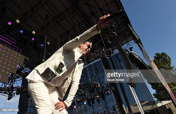 Recording artist Michael Fitzpatrick of music group Fitz and The Tantrums performs onstage at KROQ Weenie Roast 2016 at Irvine Meadows Amphitheatre...