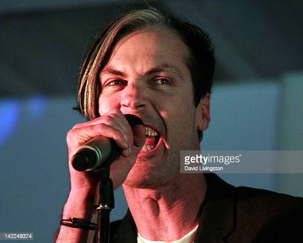 Recording artist Michael Fitzpatrick of the band Fitz and The Tantrums performs on stage at the All In For The 99% event on March 31 2012 in Los...