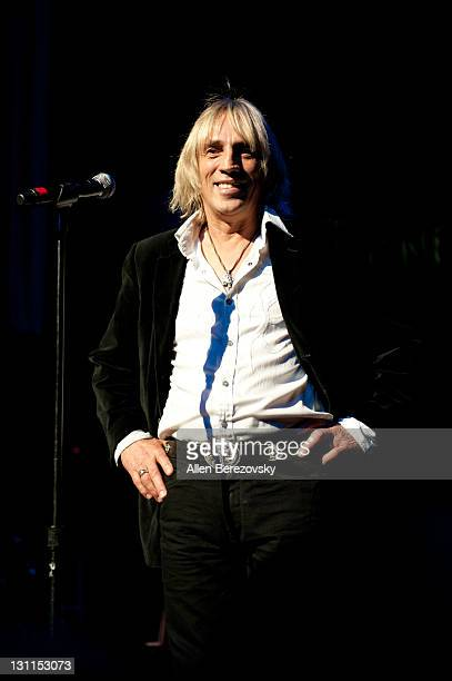 Recording artist Michael Stone performs at The 'Never Again' Peace Concert at Gibson Amphitheatre on November 1 2011 in Universal City California