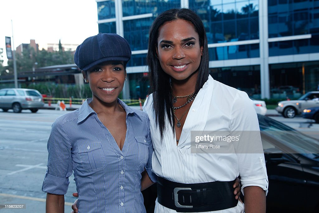 Recording artist Michelle Williams and TV/internet personality B Scott launch The B Scott Show at Foxxhole Sirius/XM Radio on April 19 2010 in Los...