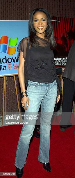 Recording artist Michelle Williams arrives at a screening of the film 'Standing in the Shadows of Motown' at the Apollo Theater November 7 2002 in...