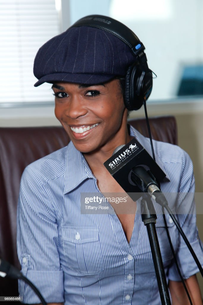 Recording artist Michelle Williams attends The B Scott Show at Foxxhole Sirius/XM Radio on April 19 2010 in Los Angeles California