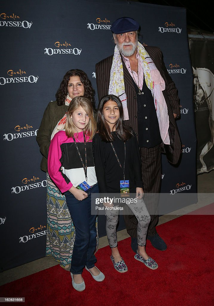 Recording Artist <a gi-track='captionPersonalityLinkClicked' href=/galleries/search?phrase=Mick+Fleetwood&family=editorial&specificpeople=209055 ng-click='$event.stopPropagation()'>Mick Fleetwood</a> and his family attend the opening night for Cavalia's 'Odysseo' at the Cavalia's Odysseo Village on February 27, 2013 in Burbank, California.