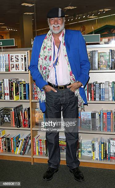 Recording artist Mick Fleetwood attends a signing of Jenny Boyd's book 'It's Not Only Rock 'N' Roll' at Barnes Noble bookstore at The Grove on April...