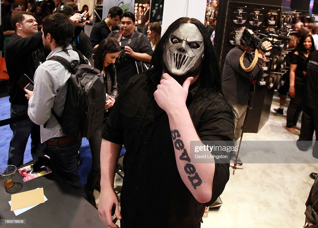 Recording artist Mick Thomson aka #7 of Slipknot attends the 2013 NAMM Show - Day 2 at the Anaheim Convention Center on January 25, 2013 in Anaheim, California.