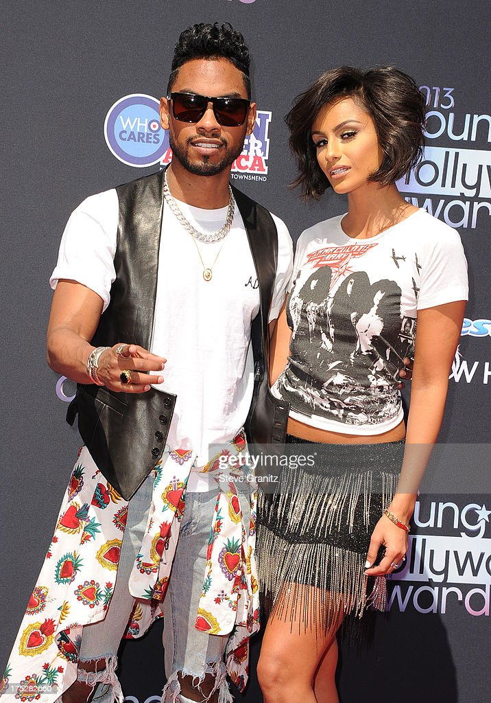 Recording Artist Miguel and model Nazanin Mandi attend CW Network's 2013 2013 Young Hollywood Awards presented by Crest 3D White and SodaStream held at The Broad Stage on August 1, 2013 in Santa Monica, California.
