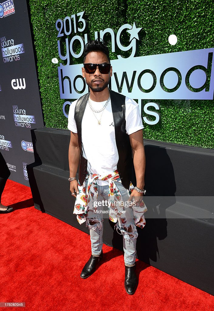 Recording Artist Miguel attends CW Network's 2013 Young Hollywood Awards presented by Crest 3D White and SodaStream held at The Broad Stage on August 1, 2013 in Santa Monica, California.