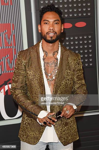 Recording artist Miguel attends the 2015 MTV Video Music Awards at Microsoft Theater on August 30 2015 in Los Angeles California