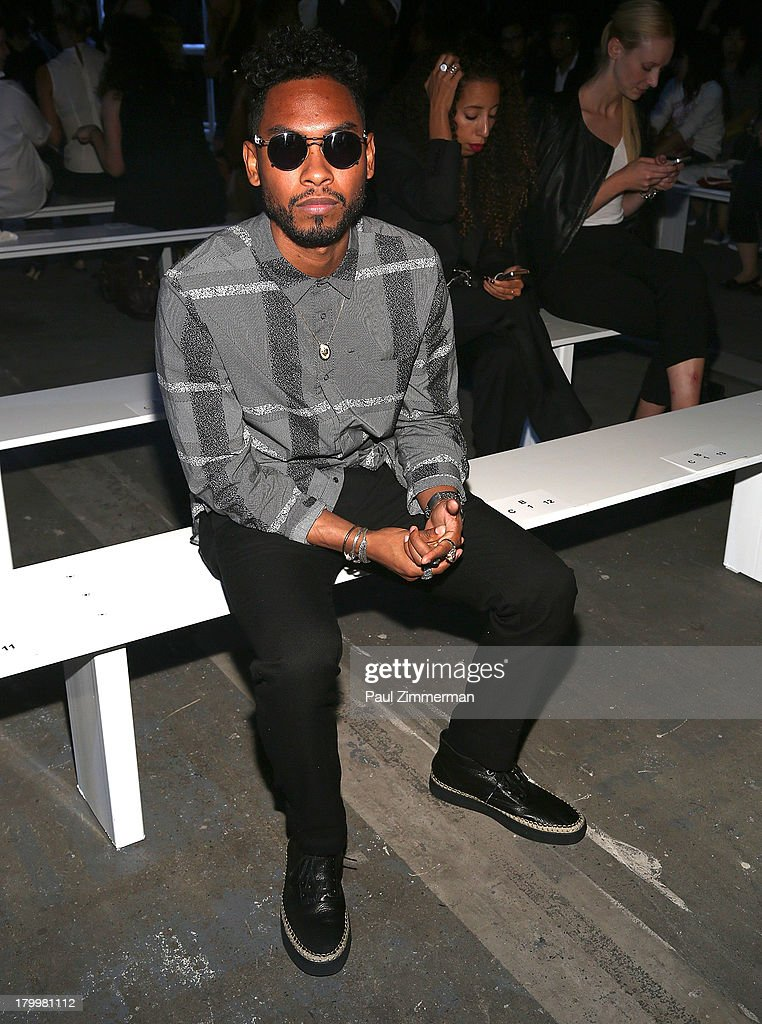 Recording artist Miguel attends the Alexander Wang show during Spring 2014 Mercedes-Benz Fashion Week at Pier 94 on September 7, 2013 in New York City.