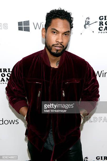 Recording artist Miguel attends the first annual 'Girls To The Front' event benefiting Girls Rock Camp Foundation at Chateau Marmont on April 29 2016...