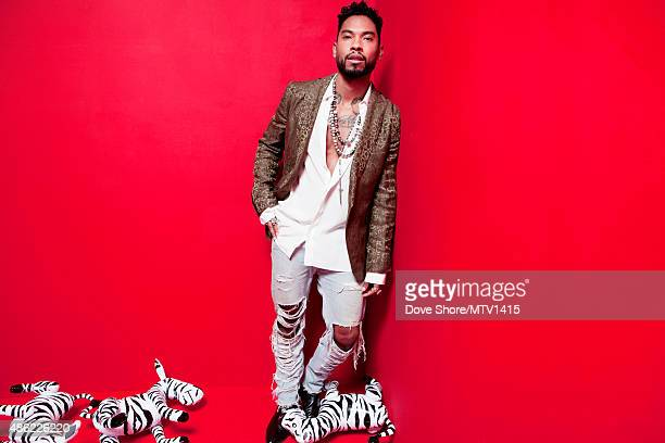 Recording artist Miguel is photographed at the 2015 MTV VMA Awards on August 30 2015 at the Microsoft Theater in Los Angeles California