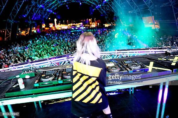 Recording artist Mija performs on Troubadour Stage during day 3 of the 2016 Life Is Beautiful festival on September 25 2016 in Las Vegas Nevada