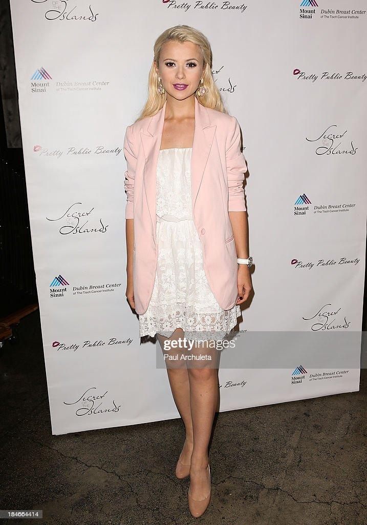 Recording Artist Mika Newton attends the Pretty Pink Beauty Night at Tiato Restaurant on October 14, 2013 in Santa Monica, California.