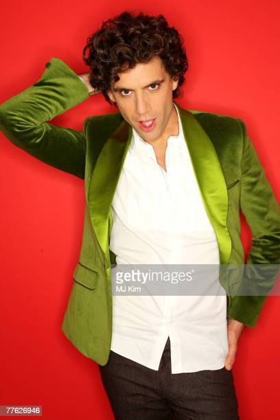 Recording artist Mika poses in the Studio during the MTV Europe Music Awards 2007 at the Olympiahalle on November 1 2007 in Munich Germany