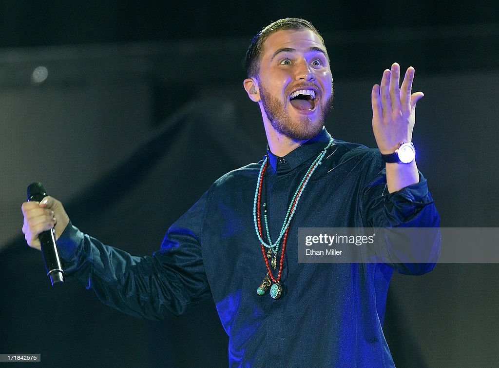 Recording artist Mike Posner performs as he opens for Justin Bieber at the MGM Grand Garden Arena on June 28, 2013 in Las Vegas, Nevada.