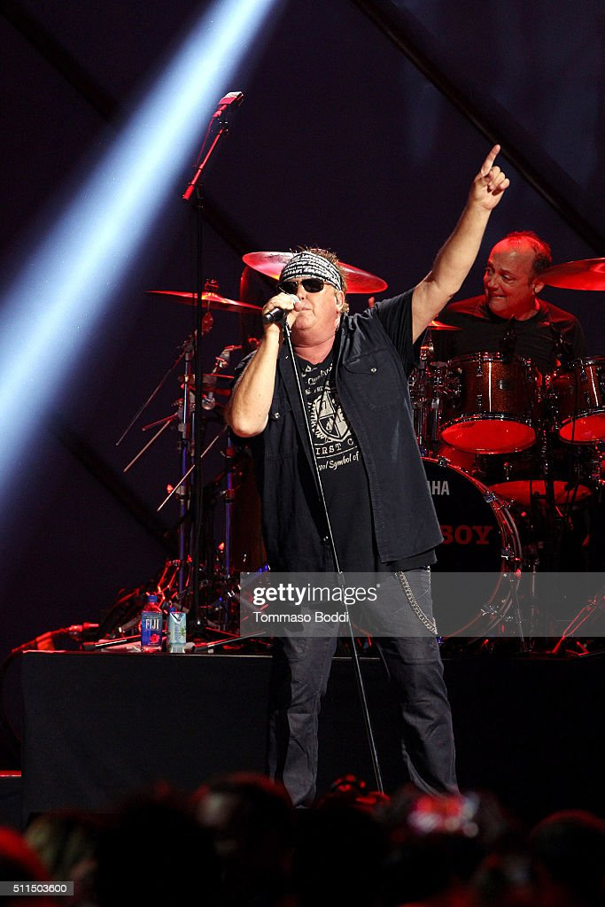 Recording artist Mike Reno of music group Loverboy performs on stage during the iHeart80s Party 2016 at The Forum on February 20 2016 in Inglewood...