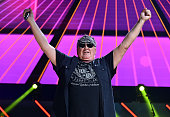 Recording artist Mike Reno of music group Loverboy performs onstage during the first ever iHeart80s Party at The Forum on February 20 2016 in...
