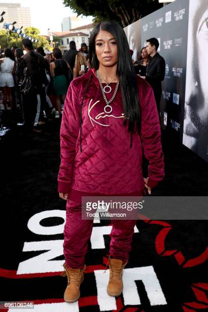 Recording artist Mila J at the 'ALL EYEZ ON ME' Premiere at Westwood Village Theatre on June 14 2017 in Westwood California