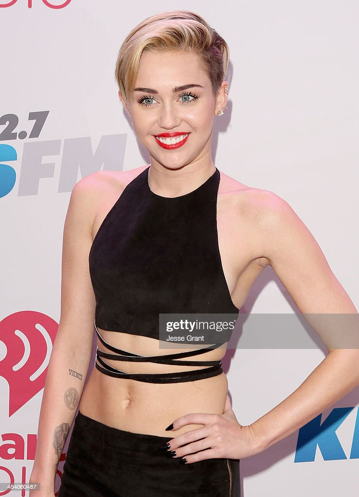 Recording artist Miley Cyrus attends KIIS FM's Jingle Ball 2013 at Staples Center on December 6, 2013 in Los Angeles, CA.
