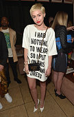 Recording artist Miley Cyrus attends The DAILY FRONT ROW 'Fashion Los Angeles Awards' Show at Sunset Tower on January 22 2015 in West Hollywood...