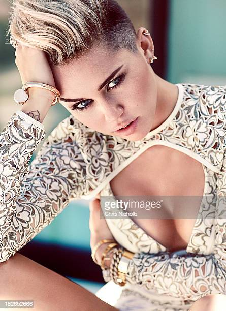 Recording artist Miley Cyrus is photographed for Fashion Magazine on October 3 2013 in Los Angeles California PUBLISHED IMAGE