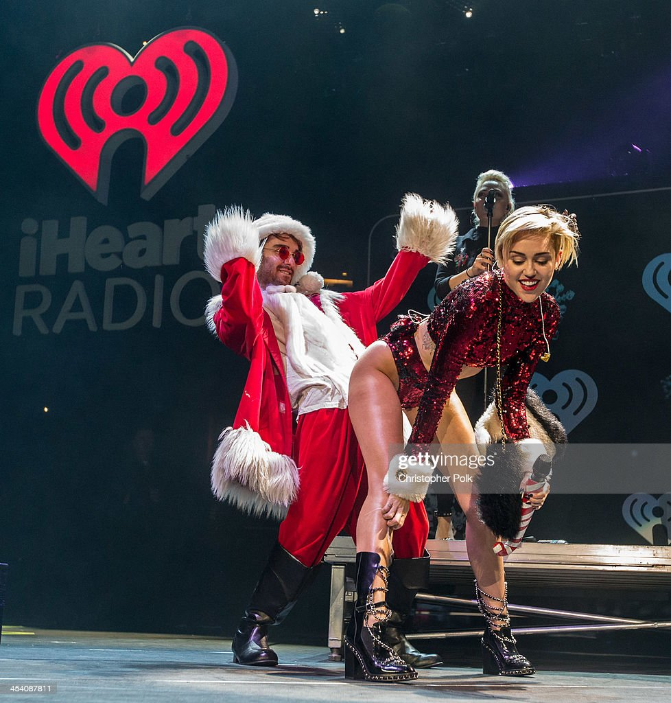 Recording artist <a gi-track='captionPersonalityLinkClicked' href=/galleries/search?phrase=Miley+Cyrus&family=editorial&specificpeople=3973523 ng-click='$event.stopPropagation()'>Miley Cyrus</a> performs onstage during KIIS FM's Jingle Ball 2013 at Staples Center on December 6, 2013 in Los Angeles, CA.