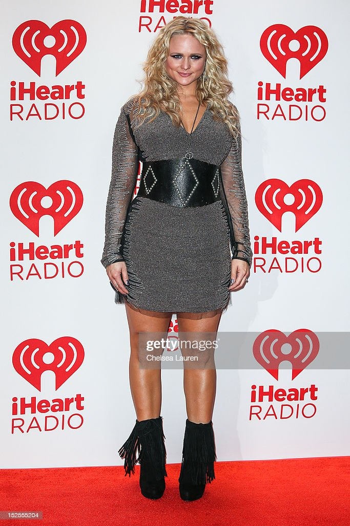 Recording artist <a gi-track='captionPersonalityLinkClicked' href=/galleries/search?phrase=Miranda+Lambert&family=editorial&specificpeople=571972 ng-click='$event.stopPropagation()'>Miranda Lambert</a> arrives at iHeartRadio Music Festival press room at MGM Grand Garden Arena on September 21, 2012 in Las Vegas, Nevada.