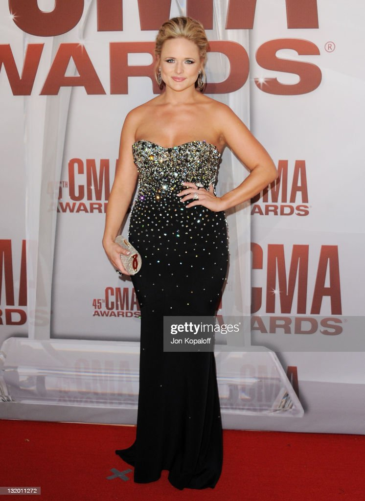 Recording artist <a gi-track='captionPersonalityLinkClicked' href=/galleries/search?phrase=Miranda+Lambert&family=editorial&specificpeople=571972 ng-click='$event.stopPropagation()'>Miranda Lambert</a> arrives at the 45th annual CMA Awards at the Bridgestone Arena on November 9, 2011 in Nashville, Tennessee.