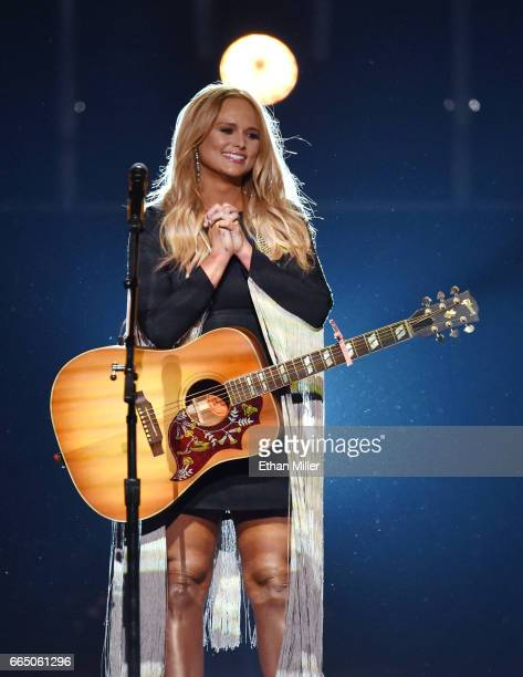 Recording artist Miranda Lambert performs during the 52nd Academy of Country Music Awards at TMobile Arena on April 2 2017 in Las Vegas Nevada
