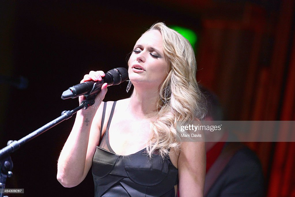 Recording artist <a gi-track='captionPersonalityLinkClicked' href=/galleries/search?phrase=Miranda+Lambert&family=editorial&specificpeople=571972 ng-click='$event.stopPropagation()'>Miranda Lambert</a> performs onstage at the Waterkeeper Alliance Benefit during Day 2 of the Deer Valley Celebrity Skifest held at Montage Deer Valley on December 7, 2013 in Park City, Utah.