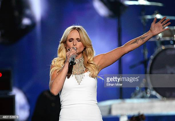 Recording artist Miranda Lambert performs onstage during the 49th Annual Academy of Country Music Awards at the MGM Grand Garden Arena on April 6...