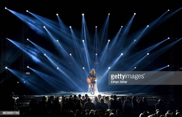 Recording artist Miranda Lambert performs onstage during the 52nd Academy of Country Music Awards at TMobile Arena on April 2 2017 in Las Vegas Nevada